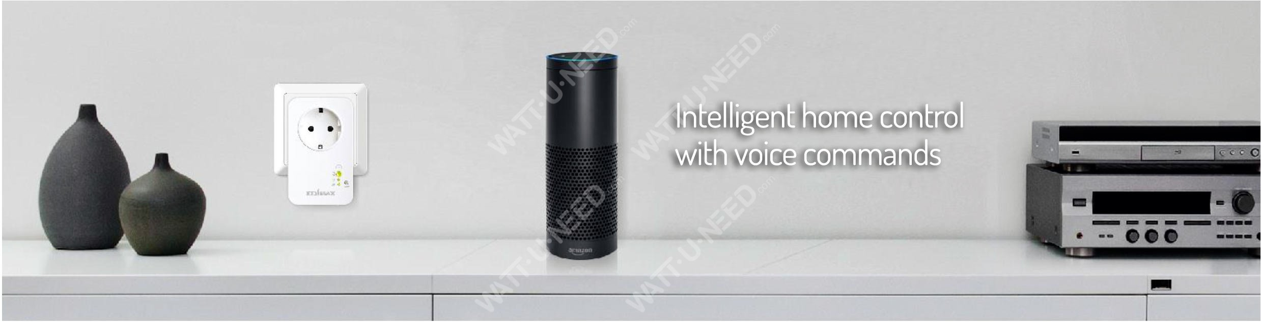 Intelligent home control with voice commands