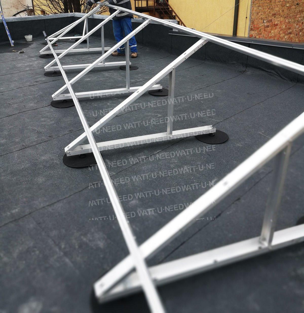 Aluminium adjustable support