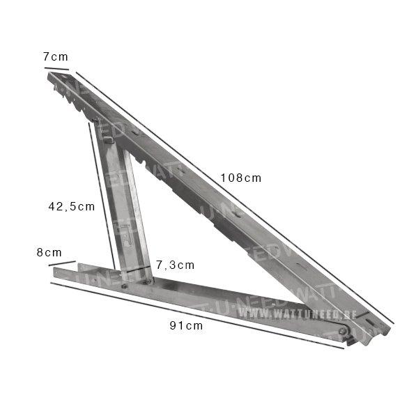 Small adjustable aluminum bracket