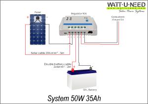 System 50W 35Ah