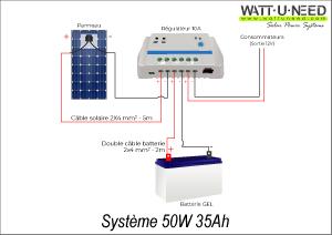 Système 50W 35Ah