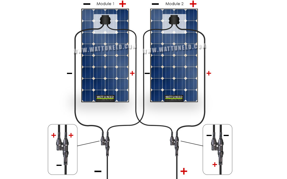 2 solar panels in parallel