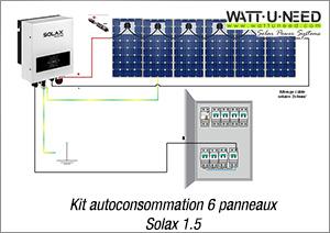 Kit autoconsommaiton 6 panneaux Solax 1.5
