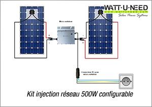 Kit injection réseau 500W configurable