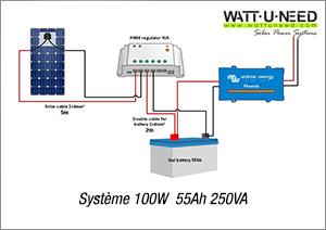 Système 100W 55Ah