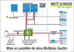 Mise en parallèle de deux Multiplus Quattro victron