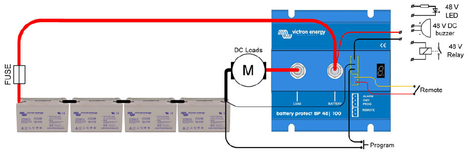 Battery protect de victron