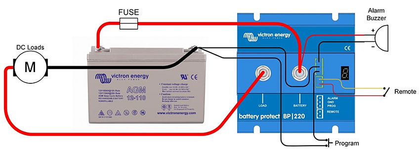 Battery protect de victron