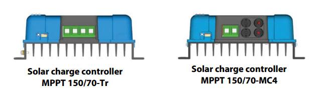 Example MC4 or Tr screw - MPPT Blue solar 150/70