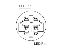 Commutateur LED robuste