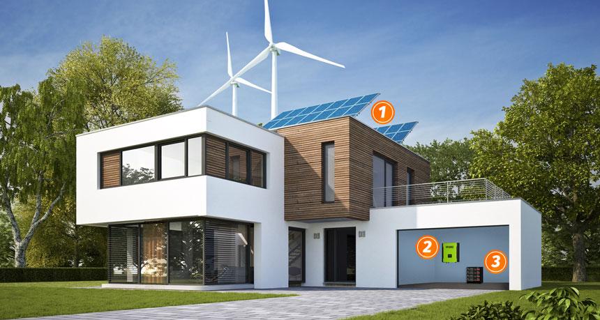 Présentation maison solaire avec stockage batteries