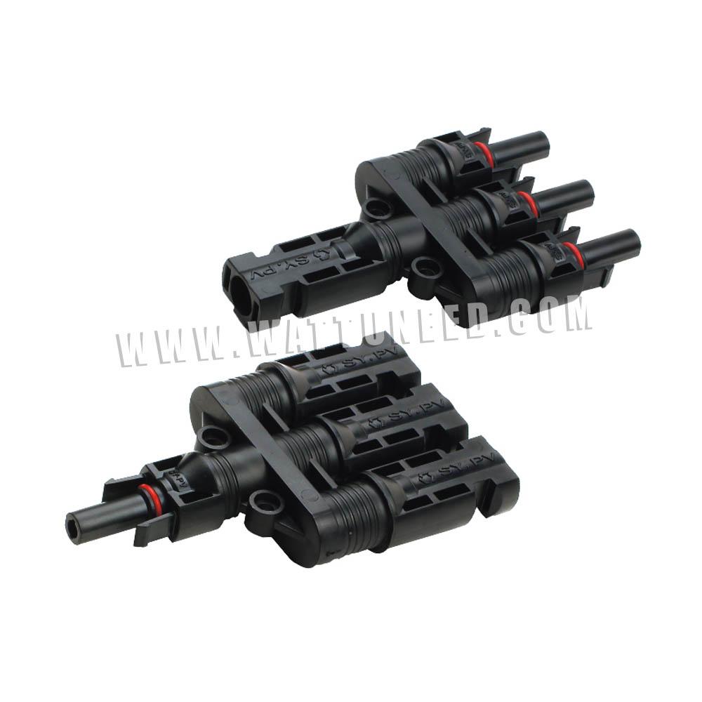 connecteurs MC4 triples mâle+femelle