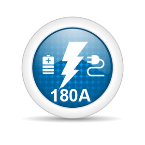 Maximum charge current of 180A