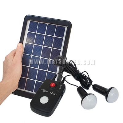 kit solaire avec ampoules et chargeur pour camping ou application nomade