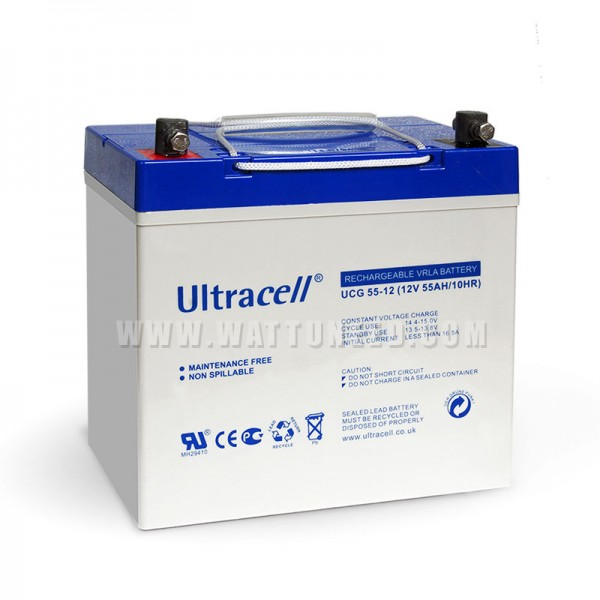 batterie GEL Ultracell 12V 55Ah powerbox