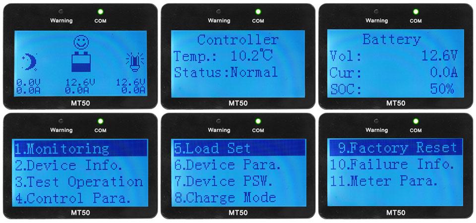 affichage epsolar contrôleur pwm LS
