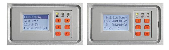 Ecran affichage du régulateur MPPT Epsolar - 45A