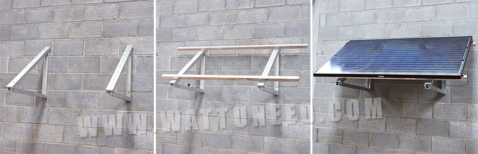 support mural en aluminium
