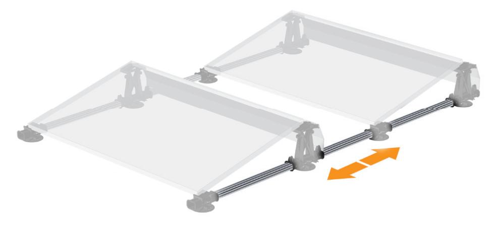 Flatfix ballast rack