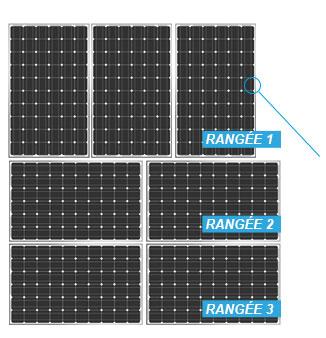 schéma montage de panneaux solaires