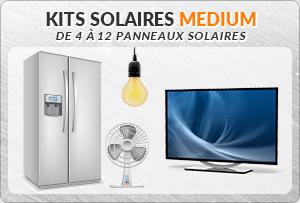 Kit solaire de moyenne puissance de 4 a 12 panneaux